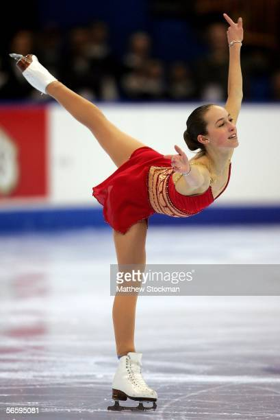 Kimmie Meissner competes in the Women's Free program during the 2006 State Farm U.S. Figure Championships at the Savvis Center on January 14, 2006 in...