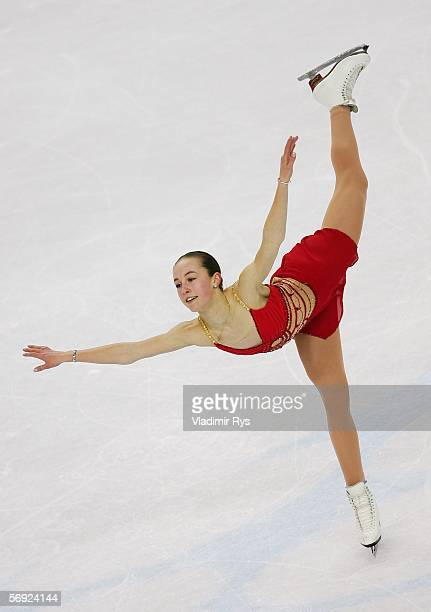 Kimmie Meissner of the United States performs during the women's Free Skating program of figure skating during Day 13 of the Turin 2006 Winter...