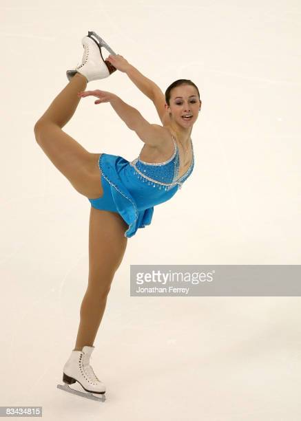 Kimmie Meissner of the United States skates the ladies short program during day 2 of 2008 Skate America at the Comcast Arena on October 25 2008 in...