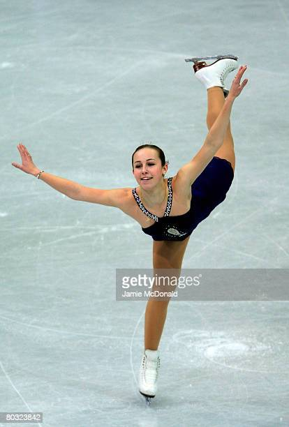 Kimmie Meissner of USA in action during her Free Skate during the ISU World Figure Skating Championships at the Scandinavium Arena on March 20 2008...