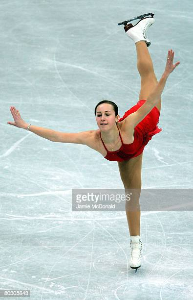 Kimmie Meissner of USA in action during her Short Programe during the ISU World Figure Skating Championships at the Scandinavium Arena on March 19...