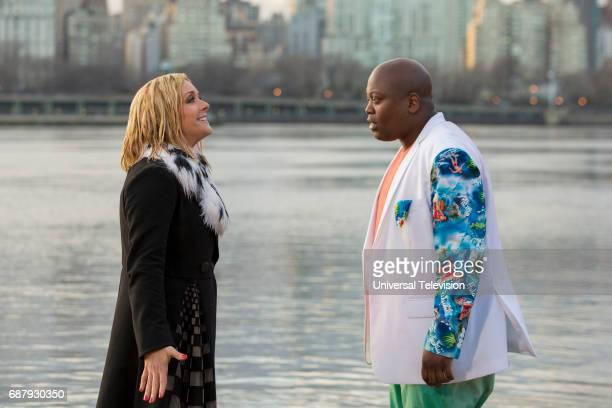 SCHMIDT Kimmy Bites an Onion Episode 313 Pictured Jane Krakowski as Jacqueline White Tituss Burgess as Titus Andromedon