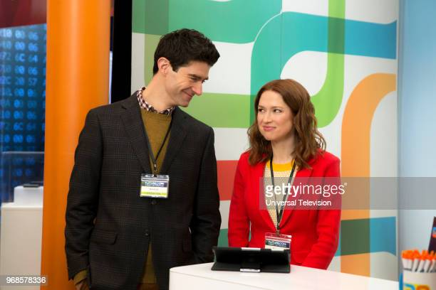 SCHMIDT 'Kimmy Disrupts the Paradigm' Episode 404 Pictured Drew Gehling as Danford Ellie Kemper as Kimmy Schmidt