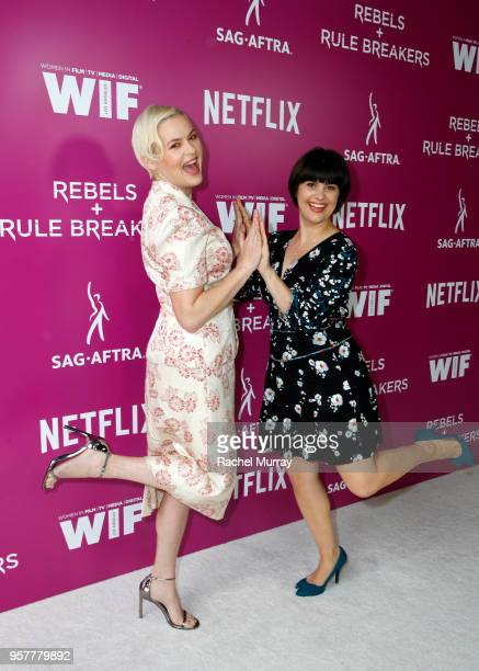 Kimmy Gatewood and Rebekka Johnson attend the Rebels and Rule Breakers Panel at Netflix FYSEE at Raleigh Studios on May 12 2018 in Los Angeles...