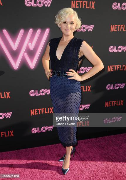 """Kimmy Gatewood attends the premiere of """"GLOW"""" at The Cinerama Dome on June 21, 2017 in Los Angeles, California."""
