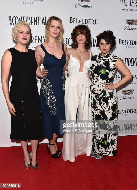 Kimmy Gatewood Betty Gilpin Alison Brie and Rebekka Johnson attend Los Angeles Confidential Celebrates Awards Issue hosted by cover stars Alison Brie...