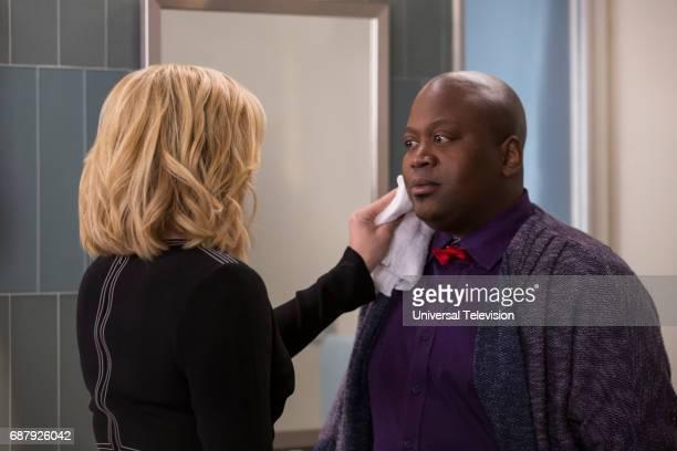 SCHMIDT Kimmy is a Feminist Episode 306 Pictured Jane Krakowski as Jacqueline White Tituss Burgess as Titus Andromedon