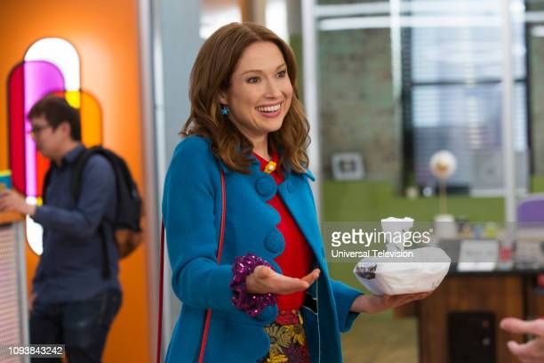"Kimmy is in a Love Square!"" Episode 408 -- Pictured: Ellie Kemper as Kimmy Schmidt --"