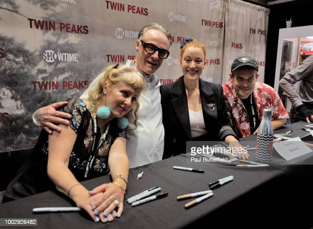 Kimmy Robertson Harry Goaz Adele Rene and Eric Edelstein attend 'Twin Peaks' autograph signings and fan events during ComicCon International 2018 at...