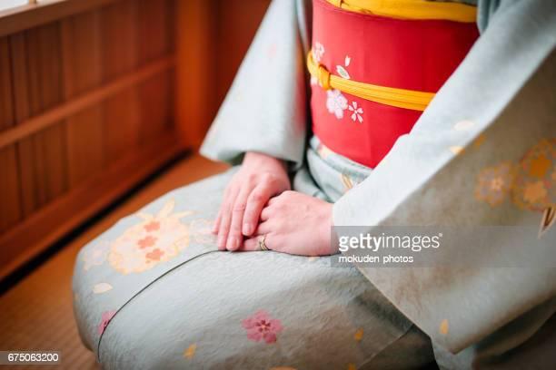 kimono and japanese women in kyoto - kimono stock pictures, royalty-free photos & images