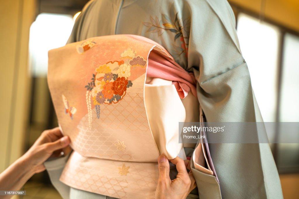 Kimono Dressing : Stock-Foto