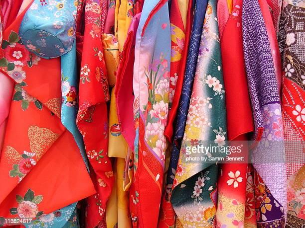 kimono selection - kimono stock pictures, royalty-free photos & images