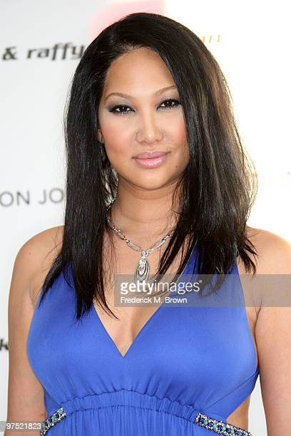 Kimora Lee arrives at the 18th annual Elton John AIDS Foundation Oscar Party held at Pacific Design Center on March 7 2010 in West Hollywood...