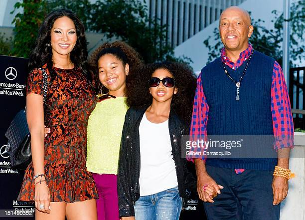 Kimora Lee Ming Lee Aoki Lee and Russell Simmons are seen around Lincoln Center during Spring 2013 MercedesBenz Fashion Week on September 7 2012 in...