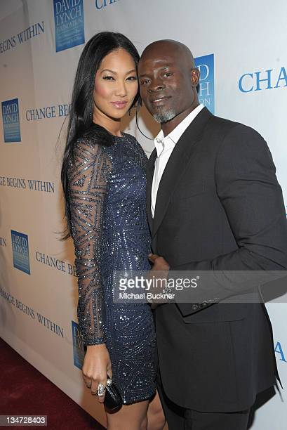 Kimora Lee Simmons and Actor Djimon Hounso attend the 3rd Annual Change Begins Within Benefit Celebration presented by The David Lynch Foundation...