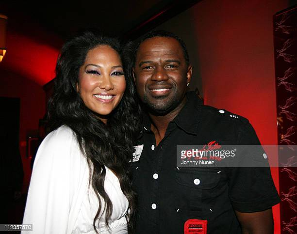 Kimora Lee Simmons and Brian McKnight during Kimora Lee Simmons Presents KLS Fall 2007 Collection Inside at Social Hollywood in Los Angeles...