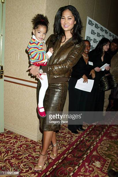 Kimora Lee Simmons and daughter Ming Lee during Artist Empowerment Coalition Luncheon Honoring the Nominees of the 45 Annual Grammy Awards at New...