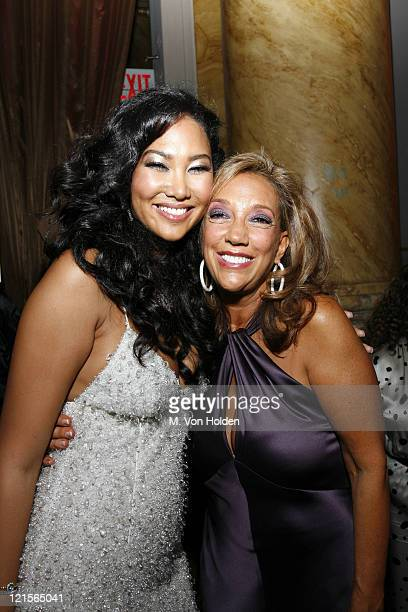 Kimora Lee Simmons and Denise Rich during Denise Rich and the GP Foundation for Cancer Research Host 'Disco Diamonds' Fundraiser at Capitale in New...