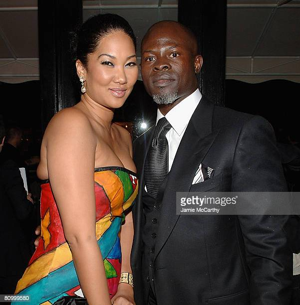 Kimora Lee Simmons and Djimon Honsou attend the Nina Ricci After Party For Met Ball Hosted By Olivier Theyskens and Lauren Santo Domingo at Philippe...