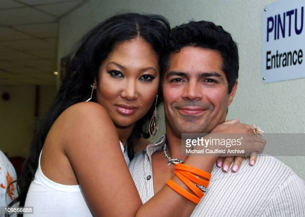Kimora Lee Simmons and Esai Morales during Force of Nature Concert for Tsunami Aid Backstage at Stadium Putra in Kuala Lumpur Malaysia