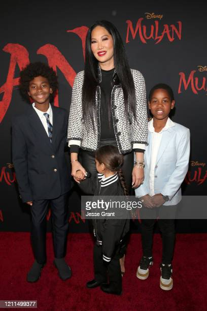Kimora Lee Simmons and guests attend the World Premiere of Disney's 'MULAN' at the Dolby Theatre on March 09 2020 in Hollywood California