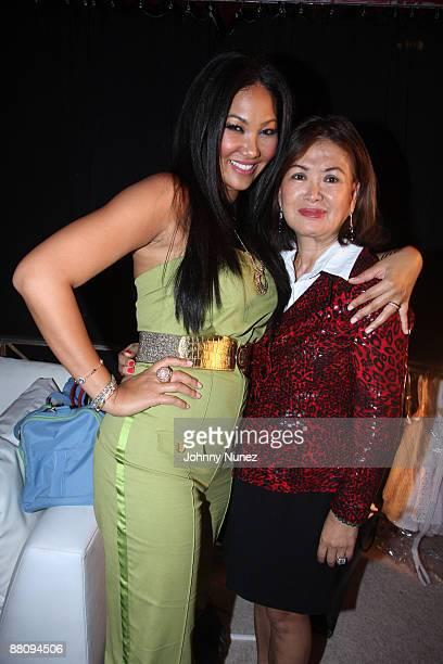 Kimora Lee Simmons and her mother Joanne Perkins attend Baby Phat Spring 2009 at Roseland Ballroom on September 12 2008 in New York City