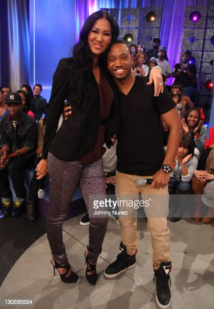 Kimora Lee Simmons and host Terrence J visit BET's '106 Park' at BET Studios on October 26 2011 in New York City