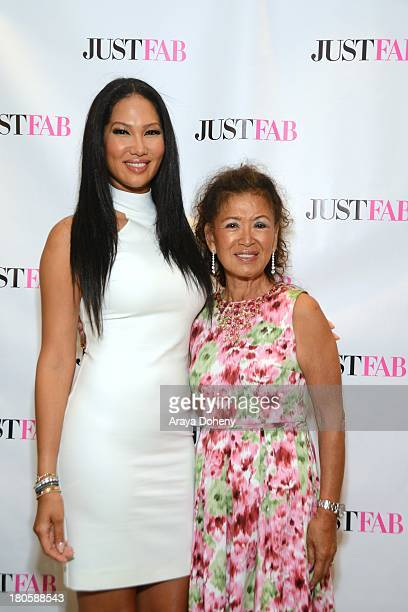 Kimora Lee Simmons and Joanne Perkins attend the JustFab Boutique grand opening with Kimora Lee Simmons at JustFab Flagship Store on September 14...