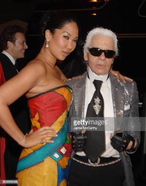 Kimora Lee Simmons and Karl Lagerfeld attend the Nina Ricci After Party For Met Ball Hosted By Olivier Theyskens and Lauren Santo Domingo at Philippe...