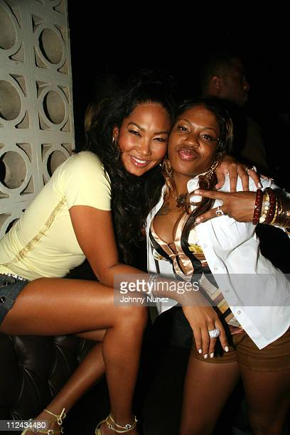 Kimora Lee Simmons and Lil Mo during BJ Coleman Birthday Party Hosted by Unik and Joyce Sevilla at Hotel Gansevort in New York City New York United...