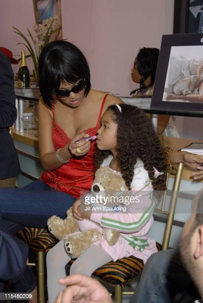 Kimora Lee Simmons and Ming Lee Simmons during 2007 MAGIC Marketplace Day 2 at Las Vegas Convention Center in Las Vegas Nevada United States