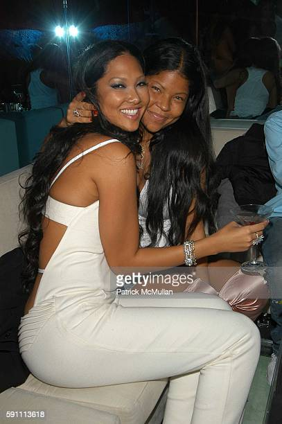 Kimora Lee Simmons and Misa HyltonBrim attend Baby Phat by Kimora Lee Simmons Fall/Winter 2005 Fashion Show AfterParty at Aer on February 5 2005 in...