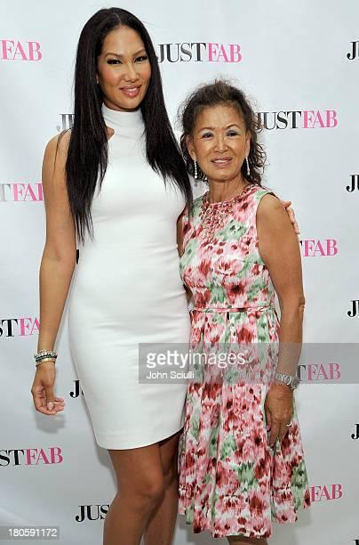 Kimora Lee Simmons and mother Joanne Perkins attend JustFabcom Los Angeles flagship store debut at Glendale Galleria on September 14 2013 in Glendale...