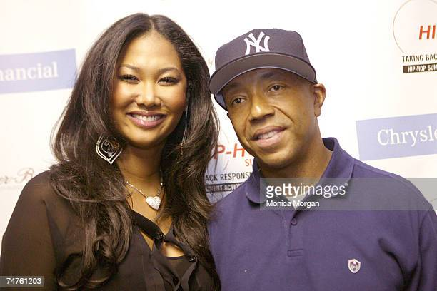 Kimora Lee Simmons and Russell Simmons at the Wayne State University's Bonstelle Theatre in Detroit Michigan