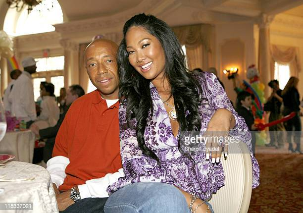 Kimora Lee Simmons and Russell Simmons during Kimora Lee Simmons and Russell Simmons Host Ming Lee Simmons' Fifth Birthday at Pleasantdale Restaurant...
