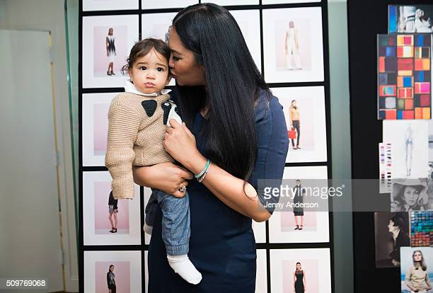 Kimora Lee Simmons and son Wolfe Lee Leissner attend Kimora Lee Simmons Presentation during the Fall 2016 New York Fashion Week on February 12 2016...