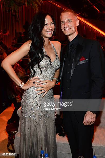 Kimora Lee Simmons and Tim Leissner attend The Weinstein Company Netflix's 2014 Golden Globes After Party presented by Bombardier FIJI Water Lexus...