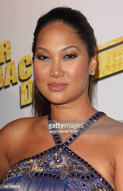 Kimora Lee Simmons arrives at the premiere of Summit Entertainment's 'Never Back Down' at the Cinerama Dome on March 4 2008 in Hollywood California