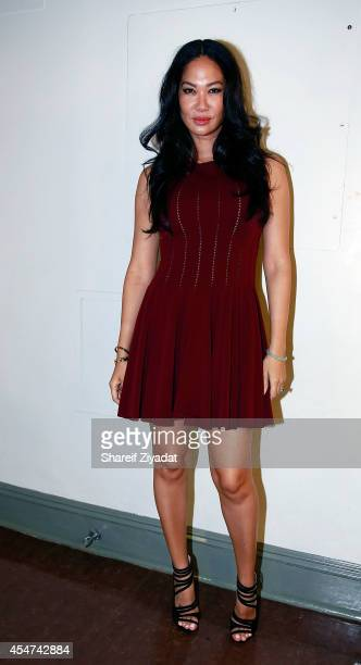 Kimora Lee Simmons attends the Argyleculture By Russell Simmons show at MercedesBenz Fashion Week Spring 2015 at Helen Mills Event Space on September...