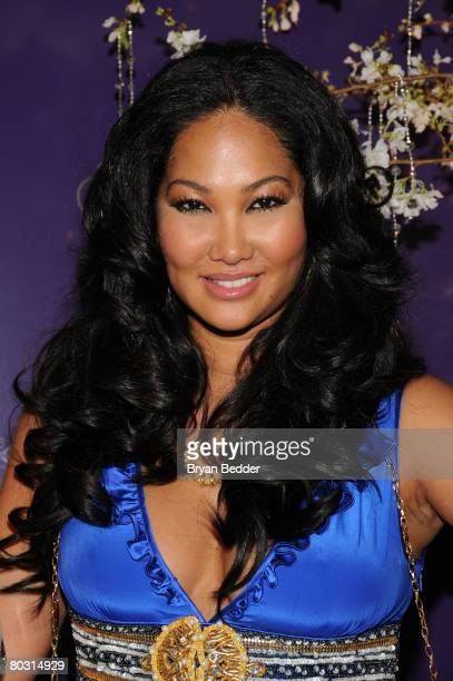 Kimora Lee Simmons attends the launch her new fragrance Baby Phat Fabulosity at the New York Palace on March 19 2008 in New York City