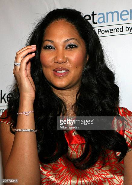 Kimora Lee Simmons attends the Market America Leadership School at the American Airlines Arena on February 8 2008 in Miami Florida