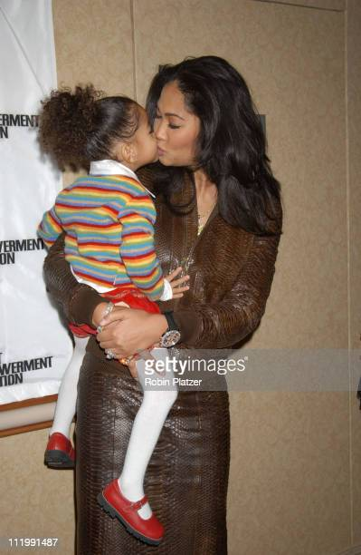 Kimora Lee Simmons daughter MIng Lee during Artist Empowerment Coalition Luncheon Honoring the Nominees of the 45 Annual Grammy Awards Robin Platzer...