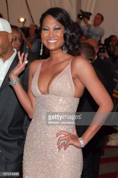 Kimora Lee Simmons during AngloMania Costume Institute Gala at The Metropolitan Museum of Art Arrivals Celebrating AngloMania Tradition and...