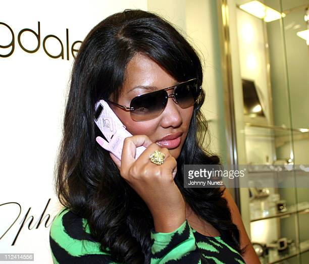 Kimora Lee Simmons during Baby Phat Celebrates New Motorola Phone Hosted By Kimora Lee Simmons at Bloomingdales SoHo in New York City New York United...