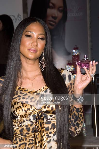 Kimora Lee Simmons during Kimora Lee Simmons Launches Her New Fragrance Baby Phat Goddess at Macy's in New York City New York United States