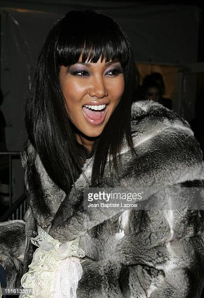 Kimora Lee Simmons during MercedesBenz Fashion Week Fall 2007 Seen Around Bryant Park Day 5 at Bryant Park in New York City New York United States