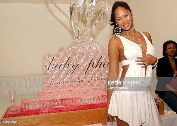 Kimora Lee Simmons during Olympus Fashion Week Fall 2004 Baby Phat After Party at Boulevard in New York City New York United States