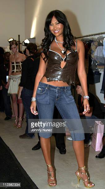 Kimora Lee Simmons during Olympus Fashion Week Spring 2005 Baby Phat Backstage at Skylight Studios in New York City New York United States