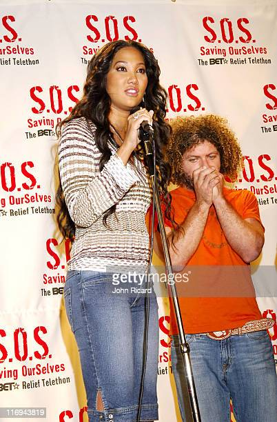 Kimora Lee Simmons during SOS The BET Telethon Relief Press Room at CBS Studios in New York New York United States