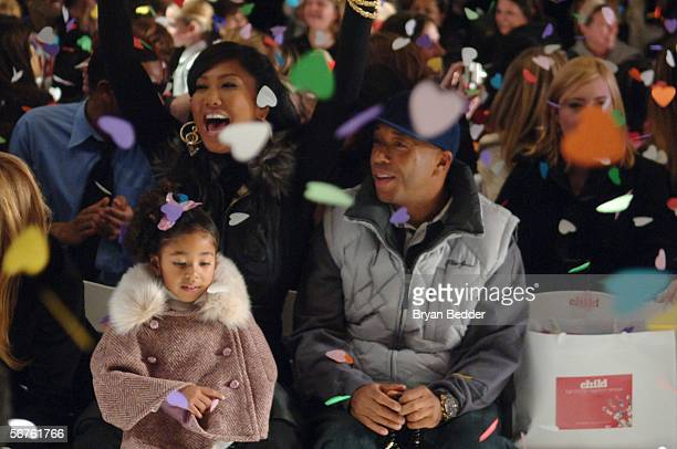 Kimora Lee Simmons her husband music producer Russell Simmons and their daughter Ming Lee Simmons attend the Child Magazine Fall 2006 fashion show at...